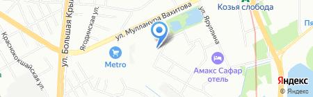 Визави на карте Казани