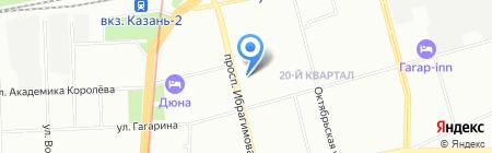 Арис-кабельный обогрев на карте Казани