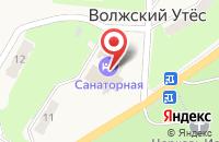 Схема проезда до компании Санаторная в Волжском Утёсе