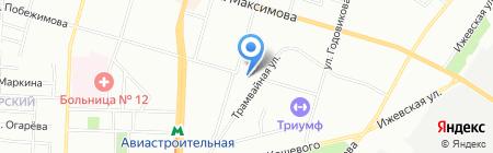 Бар на ул. Лукина на карте Казани