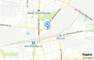 Местоположение на карте пункта техосмотра по адресу г Казань, ул Дементьева, д 1