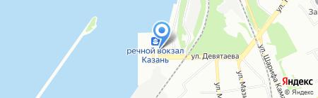 Парус на карте Казани