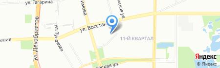 Снежинка на карте Казани