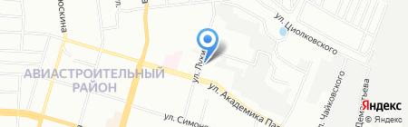 Отдел полиции №1 Авиастроительный на карте Казани