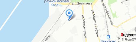 Пестречинка на карте Казани
