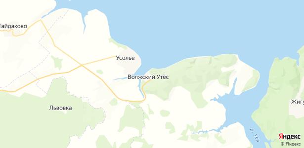 Волжский Утёс на карте