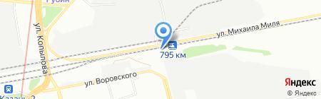Автостоянка на ул. Короленко на карте Казани