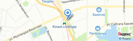 Прокат в Казани на карте Казани