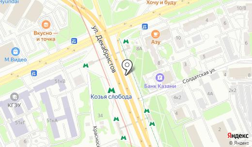 Прокат в Казани. Схема проезда в Казани
