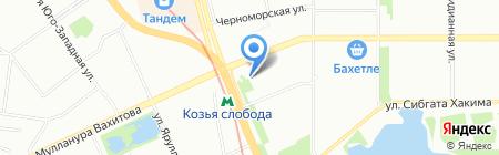 Имплозия на карте Казани