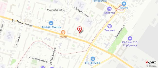 Карта расположения пункта доставки Билайн в городе Казань