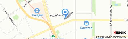 Васильевский на карте Казани