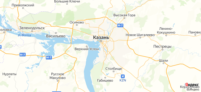 Хостелы Казани - объекты на карте