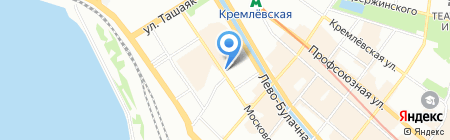 Изолайн на карте Казани