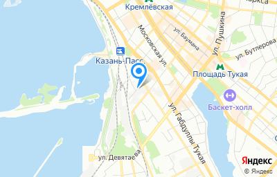 Местоположение на карте пункта техосмотра по адресу г Казань, ул Мартына Межлаука
