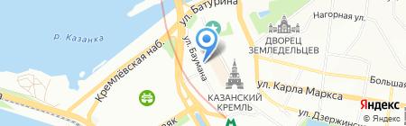 Кремлёвские сувениры на карте Казани