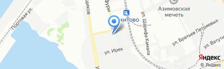 КаскадКлимат на карте Казани