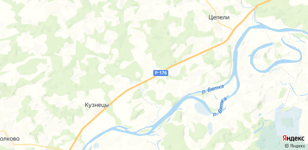Раменье на карте
