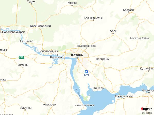 Казань на карте