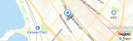 Град на карте Казани