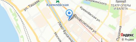 Посад на карте Казани