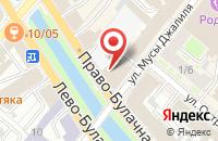 Схема проезда до компании Веб - Студия «Серебряный Дождь» в Казани
