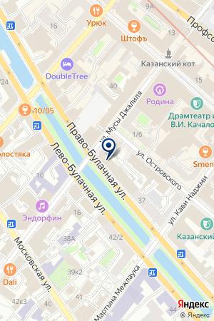АГЕНТСТВО ПО РАЗВИТИЮ МЕЖДУНАРОДНОГО СОТРУДНИЧЕСТВА на карте Казани