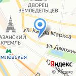 Лесное озеро на карте Казани