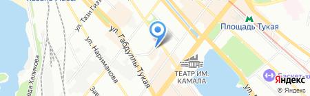 Сафина на карте Казани
