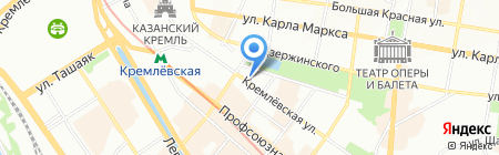 Константа на карте Казани