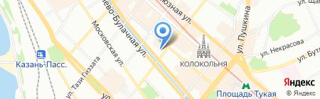 Финзащитник на карте Казани