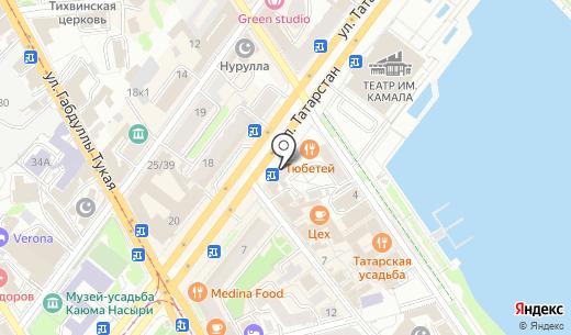 Сеть аптек. Схема проезда в Казани
