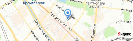 СОлНЦе на карте Казани