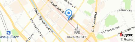 Варшавский стиль на карте Казани