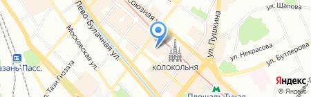Восхитительные ткани на карте Казани