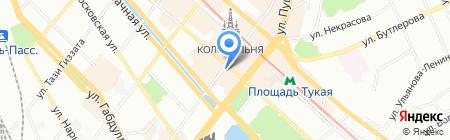 В центре на карте Казани