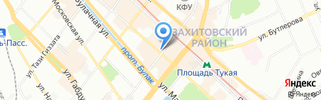 Центральное на карте Казани