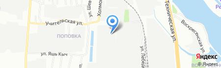 Сталь-фактура на карте Казани