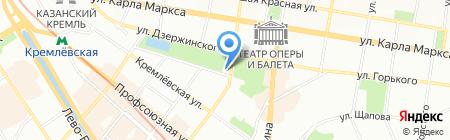 Черное озеро на карте Казани