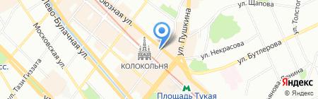 Золотые ручки на карте Казани