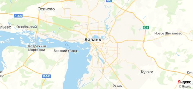 Казань - объекты на карте