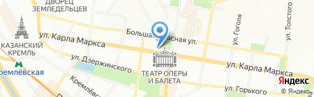 Студенческое на карте Казани