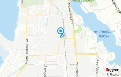 Местоположение на карте пункта техосмотра по адресу г Казань, ул Лебедева, д 1