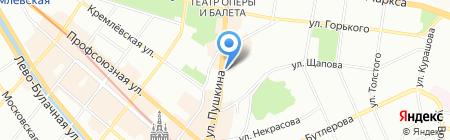 НЭК на карте Казани