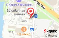 Схема проезда до компании Иман в Казани