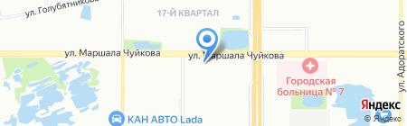 Амадель на карте Казани