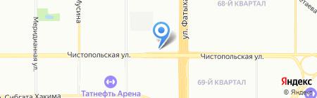 Зоомагазин на Чистопольской на карте Казани