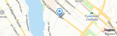 Отделение по Вахитовскому району отдела ГИБДД на карте Казани