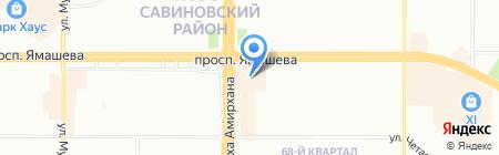 Табакерия на карте Казани