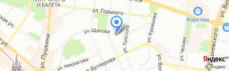 Фламинго на карте Казани